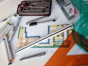teken en ontwerp werkzaamheden